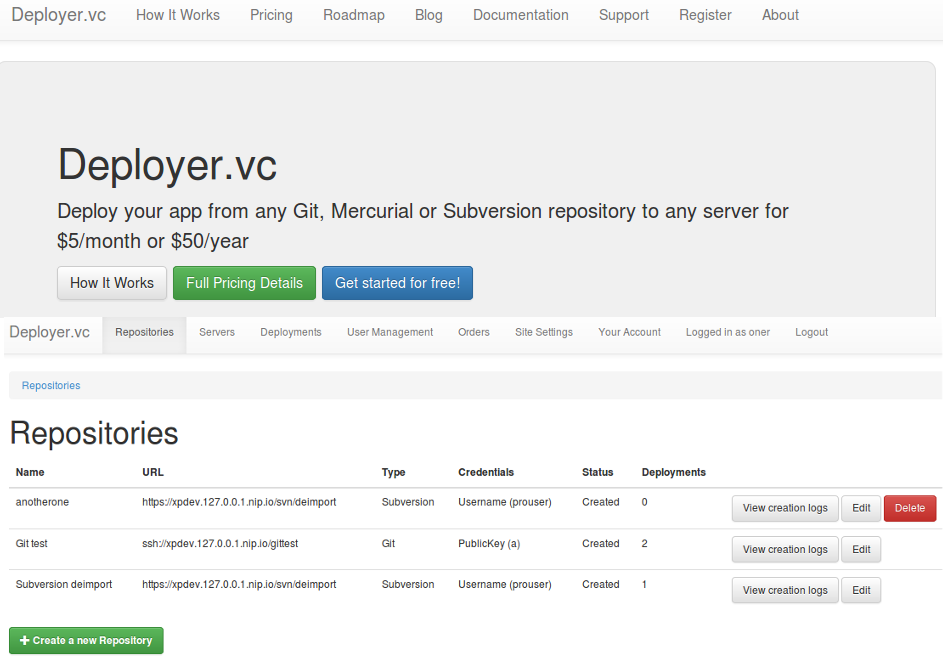 deployer.vc screenshot